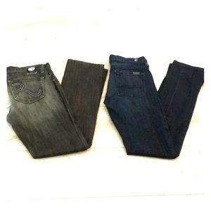Rock & Republic and Seven 7 for all mankind jeans